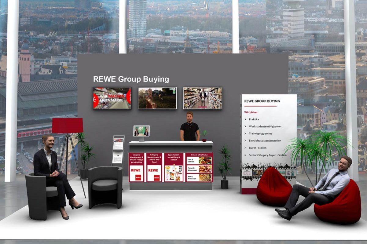 Messestand REWE Group Buying des virtuellen Karrieretags